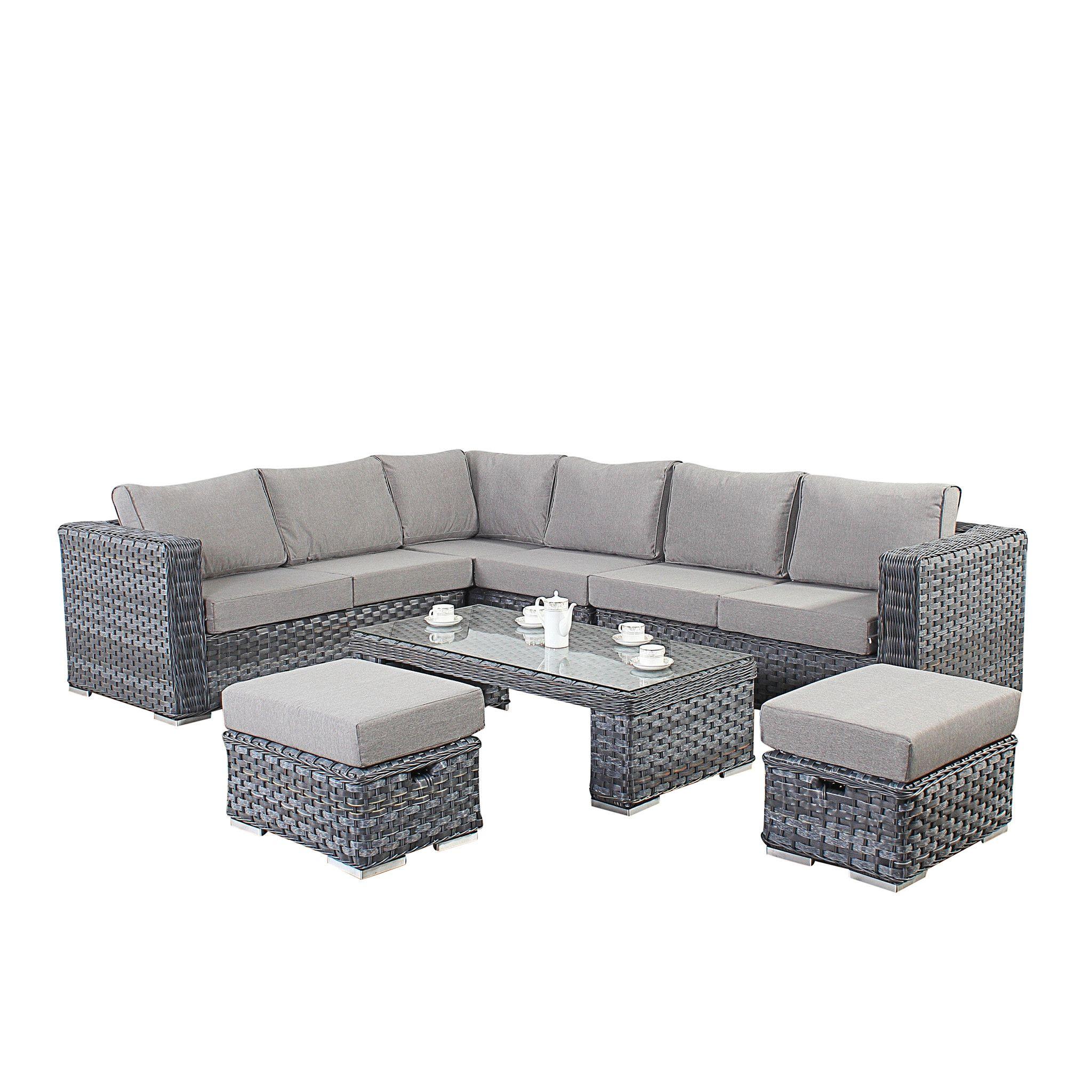 Naples Kd Coffee Set S And Sofas. Port Royal Platinum Rattan Corner Sofa And Table Set   Modern Sofas