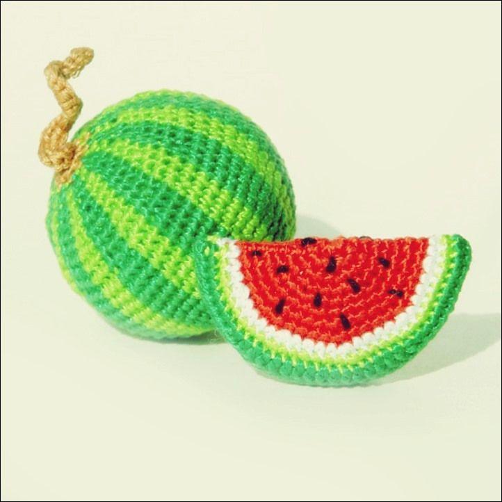Häkeln Sie Wassermelone Tutorial #muñecosdeganchillo
