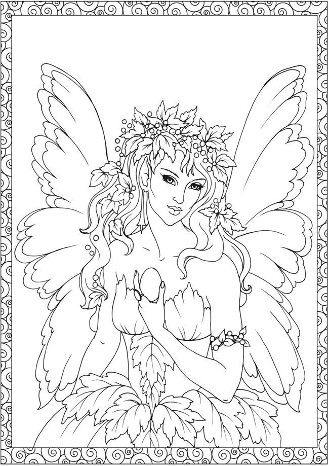Pin by Coloring Fun on Fantasy | Pinterest | Adult coloring ...