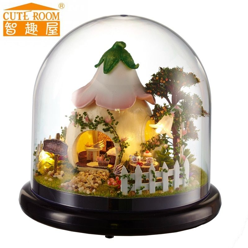 Toys & Hobbies Hot Diy Glass Ball 3d Miniature Assemble Model Creative Diary Building Dollhouse Kits With Cute Funitures Festival Gifts
