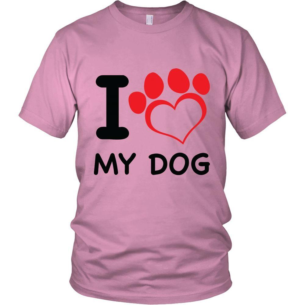 I Heart My Dog Adult T-Shirt