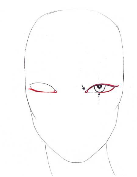 How to draw fashion eyes step 7