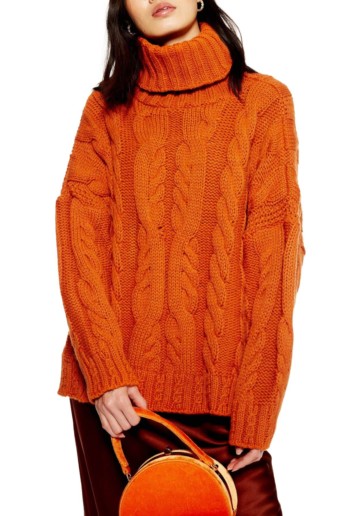6abb769c206 Chunky Cable Turtleneck Sweater