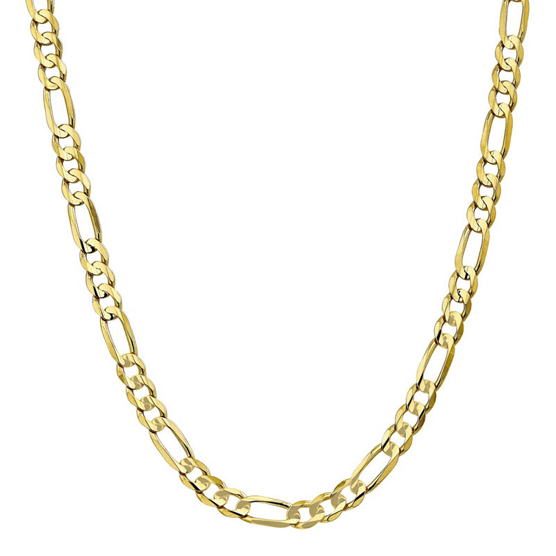 10k Gold 20 Inch Solid Figaro Chain Necklace 10k Gold Chain Chain Photo Jewelry