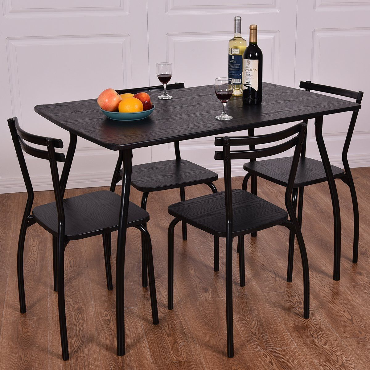Amazon Com Giantex 5 Piece Dining Set Table And 4 Chairs Home
