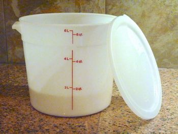 Dough Rising And Storage Bucket W Lid 6 Qt Round Bread Baking Baking Supplies Storage Buckets