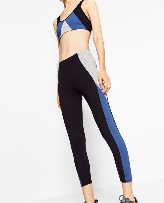 ZARA - WOMAN - TRICOLOURED FITTED LEGGINGS