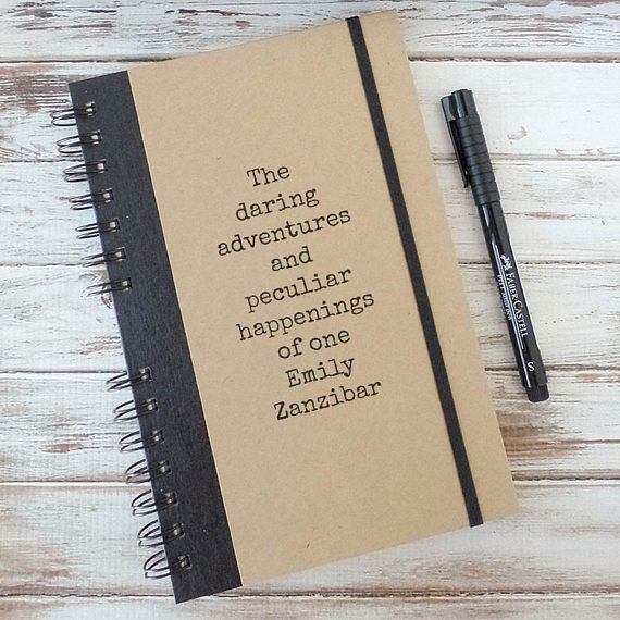 Personalized Writing Journal Diary For Birthday Or Graduation Gift