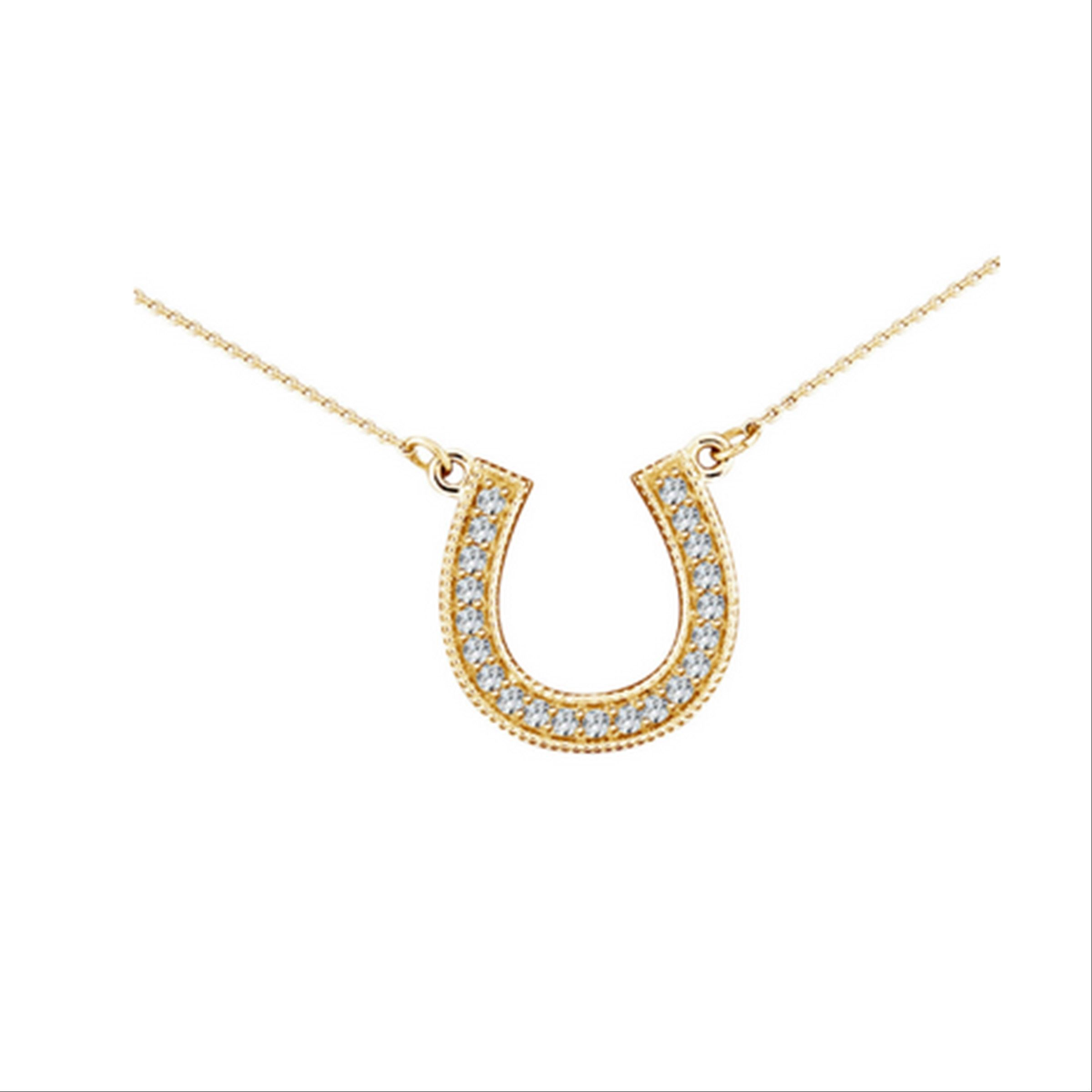 gallery lyst pendant normal temple yellow st horseshoe gold clair sapphire diamond jewelry product fortuna