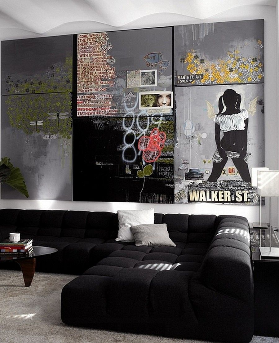 Image result for graffiti inspired interior design