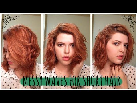 Overnight Messy Waves For Short Hair No Heat Laladylydia Short Hair Waves How To Curl Short Hair Hair Without Heat