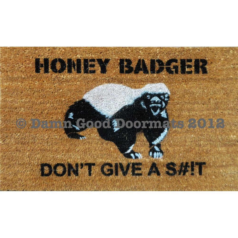 Honey Badger Don\u0027t Give a S--t- Door mat outdoor houseware