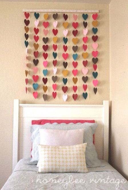 Make garlands from paper cut-outs.   24 Creative Ways To Decorate Your Place For Free #BabyRoomIdeas