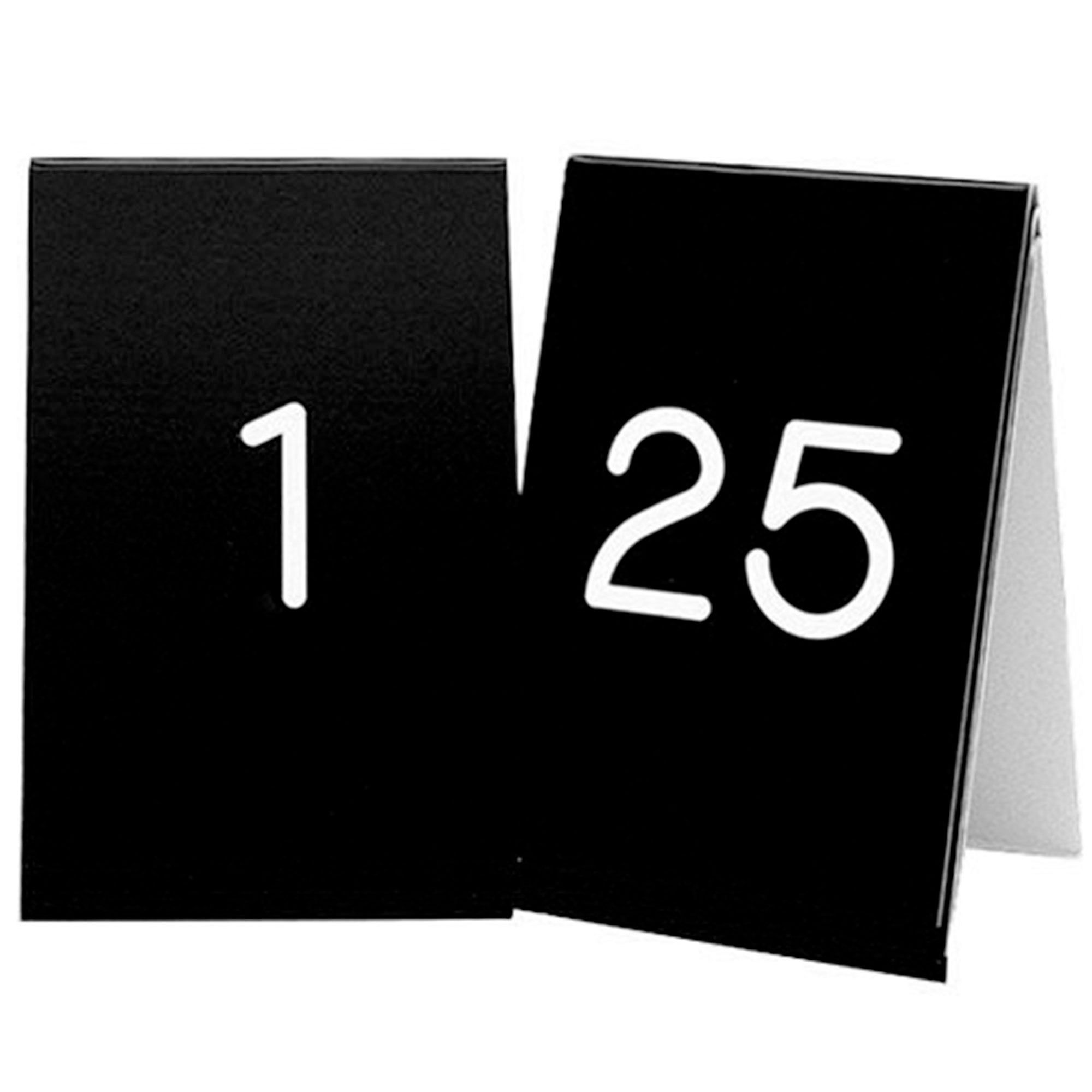 3.5W x 5H Number Tent Sign Set 1 to 25 White/Black Tags  sc 1 st  Pinterest & 3.5W x 5H Number Tent Sign Set 1 to 25 White/Black Tags: Table ...