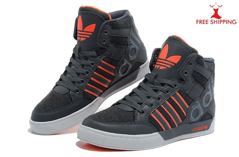 timeless design 58db0 3056a ADIDAS High Tops Shoes Mens Retro Synthetic Orange -Black
