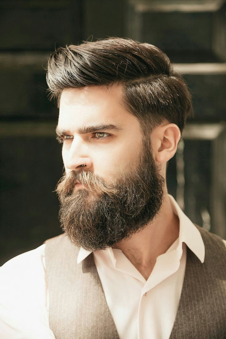 Mens haircuts with beards long n parted  haircut  pinterest  beard styles man style and