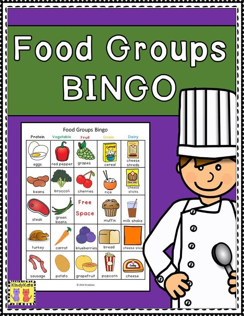 Food Groups Bingo Group meals, Basic food groups