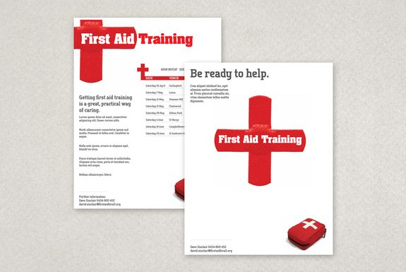 First Aid Training Flyer Template-- Running a first aid course at - first aid certificate template