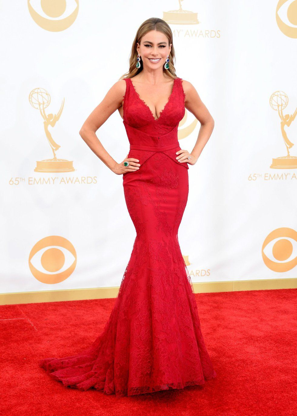 La alfombra roja de los emmy red carpet sofia vergara and