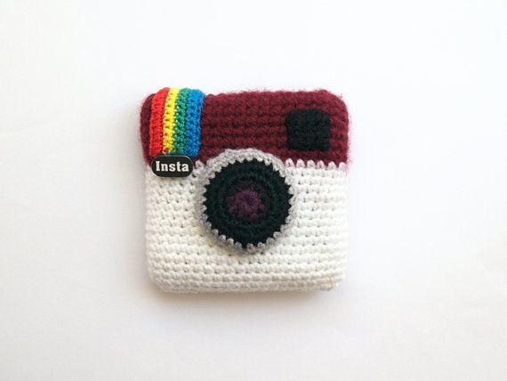 Amigurumi Patterns For Sale : Sale off instagram crochet camera amigurumi gift crochet