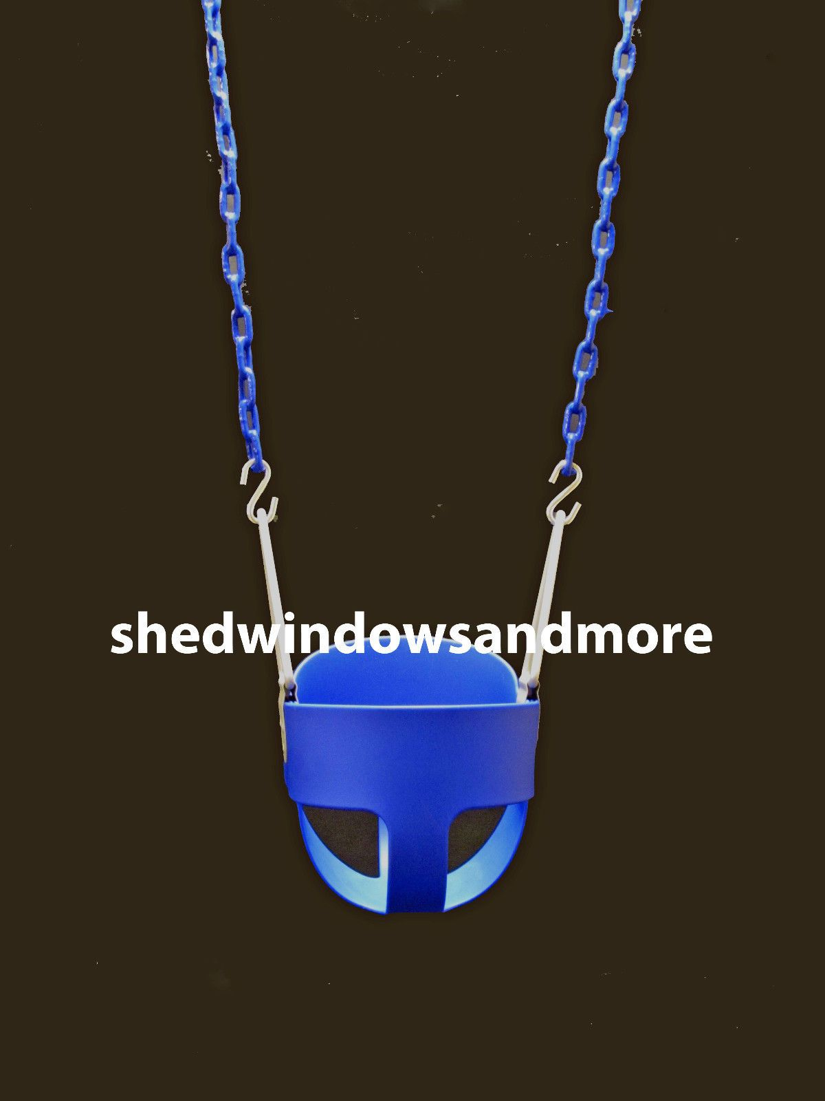 Full Bucket Swing Blue With Chain Toddler Bucket Swing Swingset
