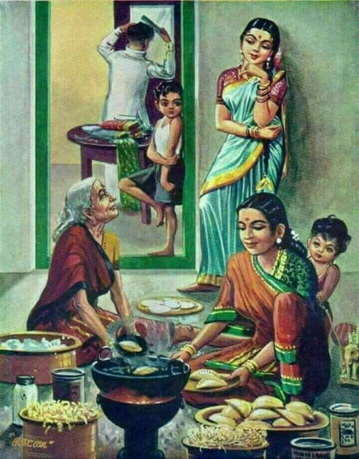 Every Indian House During Good Times Indian Art Paintings Indian Drawing Indian Paintings