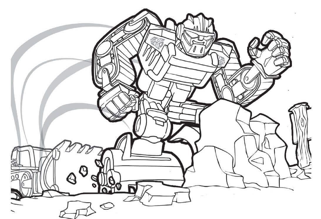 Boulder Transformers Rescue Bots Coloring Page Rescue Bots Birthday Rescue Bots Birthday Party Transformers Rescue Bots Birthday