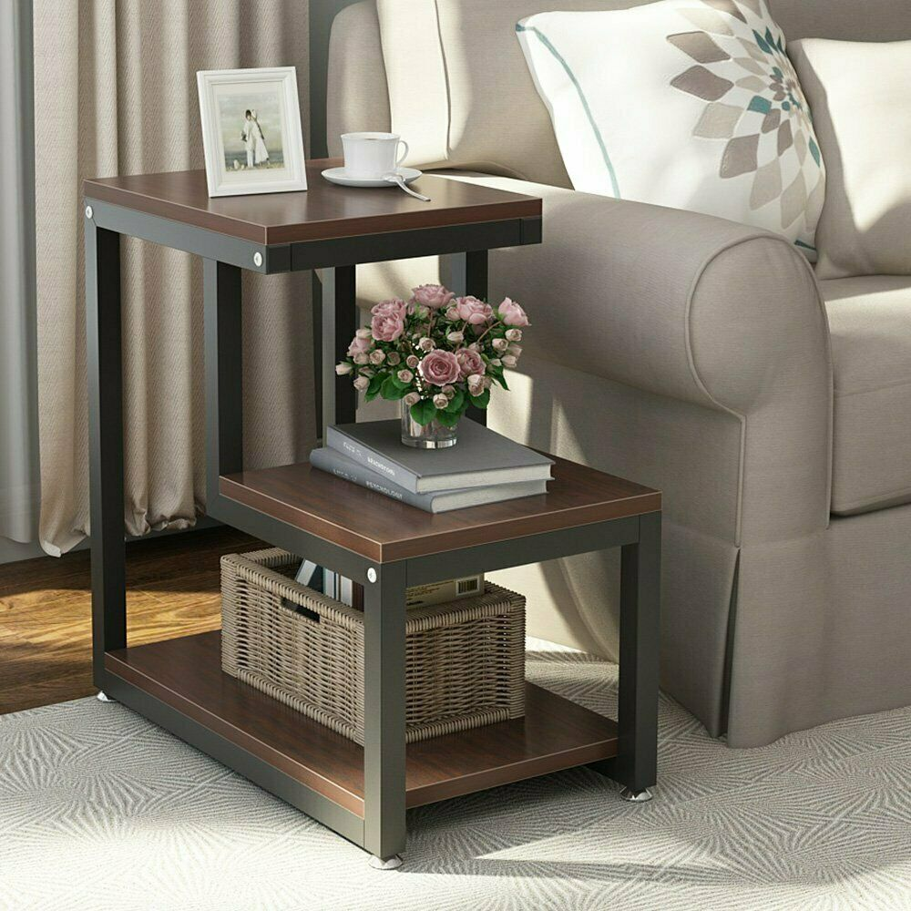 17 Stories Angelique 3 Tier End Table Ebay In 2020 Living Room Side Table Living Room End Tables Side Table With Storage