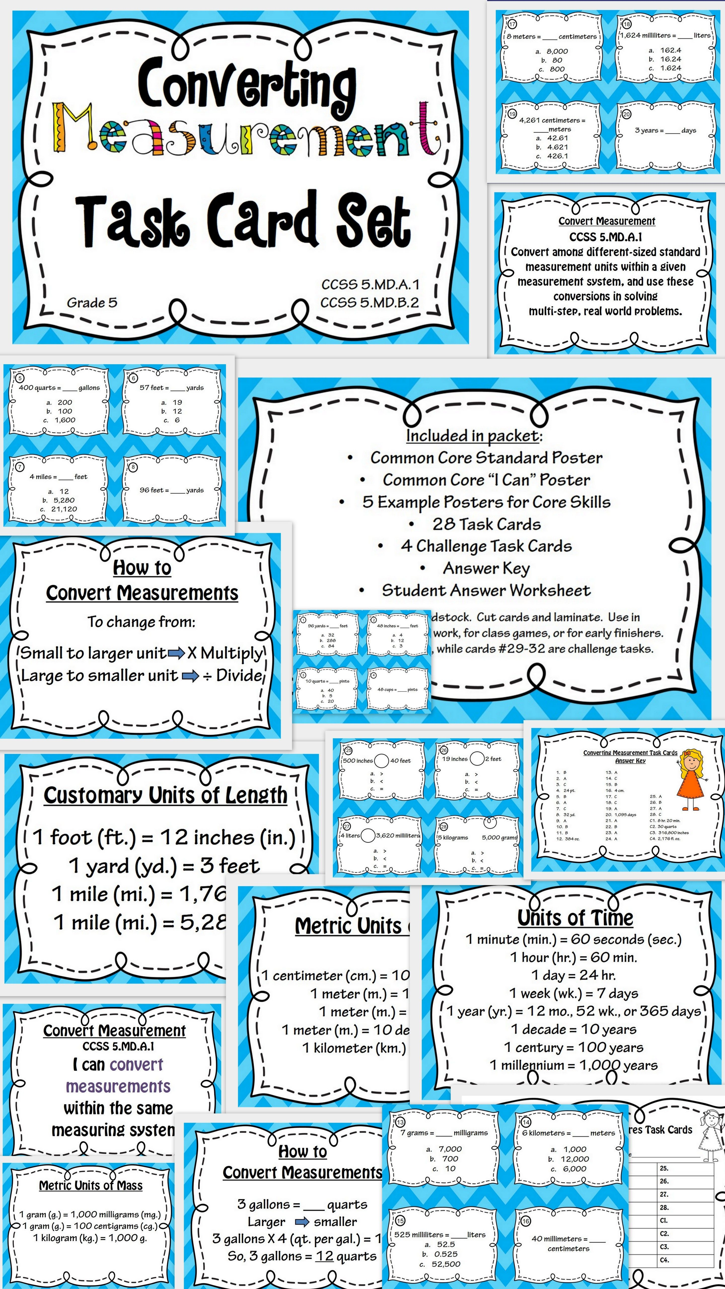 Easy Read Metric And Imperial Units Of Length Poster