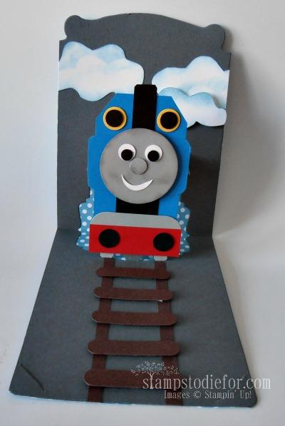 Thomas The Train Birthday Card Kids Birthday Cards Birthday Cards For Boys Punch Art Cards