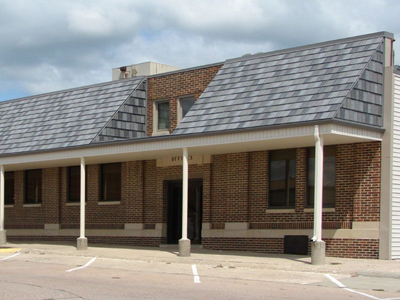 Best Steel Roofs Arrowline Roofing Steel Shingles Edco Metal Roofing Enhanced Slate Charcoal 400 x 300