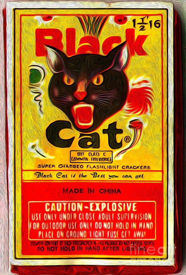 1950s Black Cat Sparkler Spinner