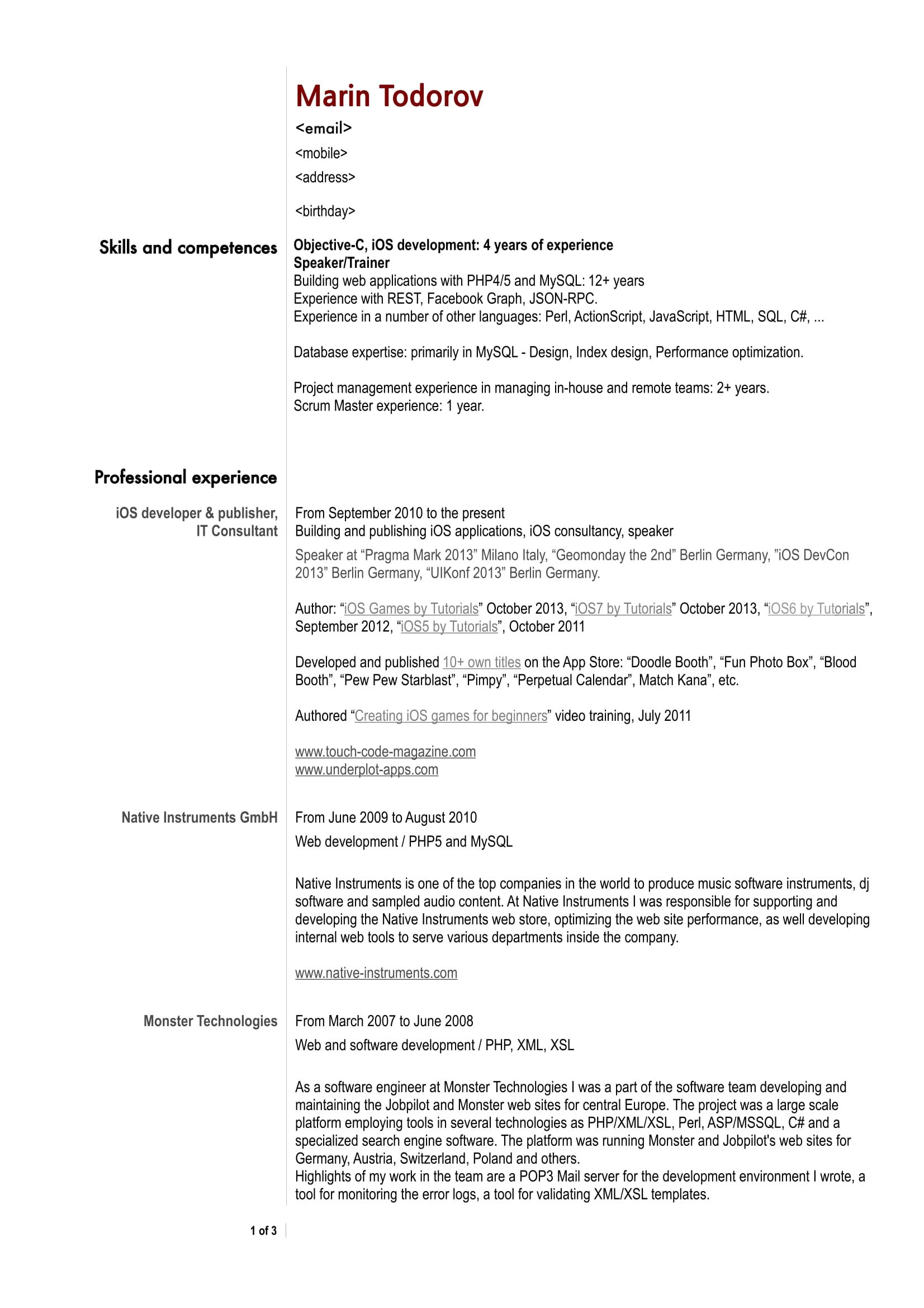 Pin On Resume Sample