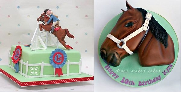 showjumping cake by Cakes by Christine UK horses head cake by