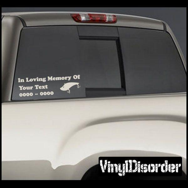 Fishing In Loving Memory Custom Car Or Wall Vinyl Decal - Custom auto decal stickers