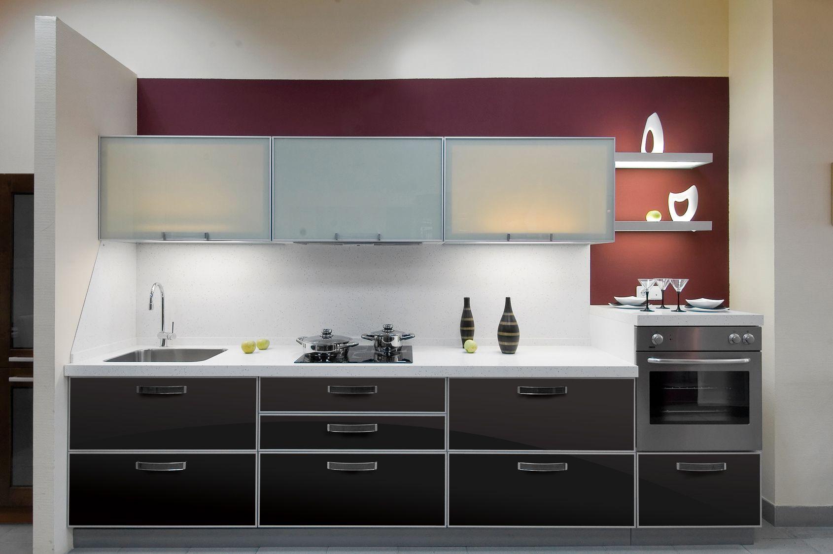 Aluminum Frame Glass Kitchen Cabinet Doors Frame Style Verona