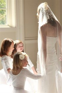 A MUST  to get a photo like this with the beautiful flower girls.