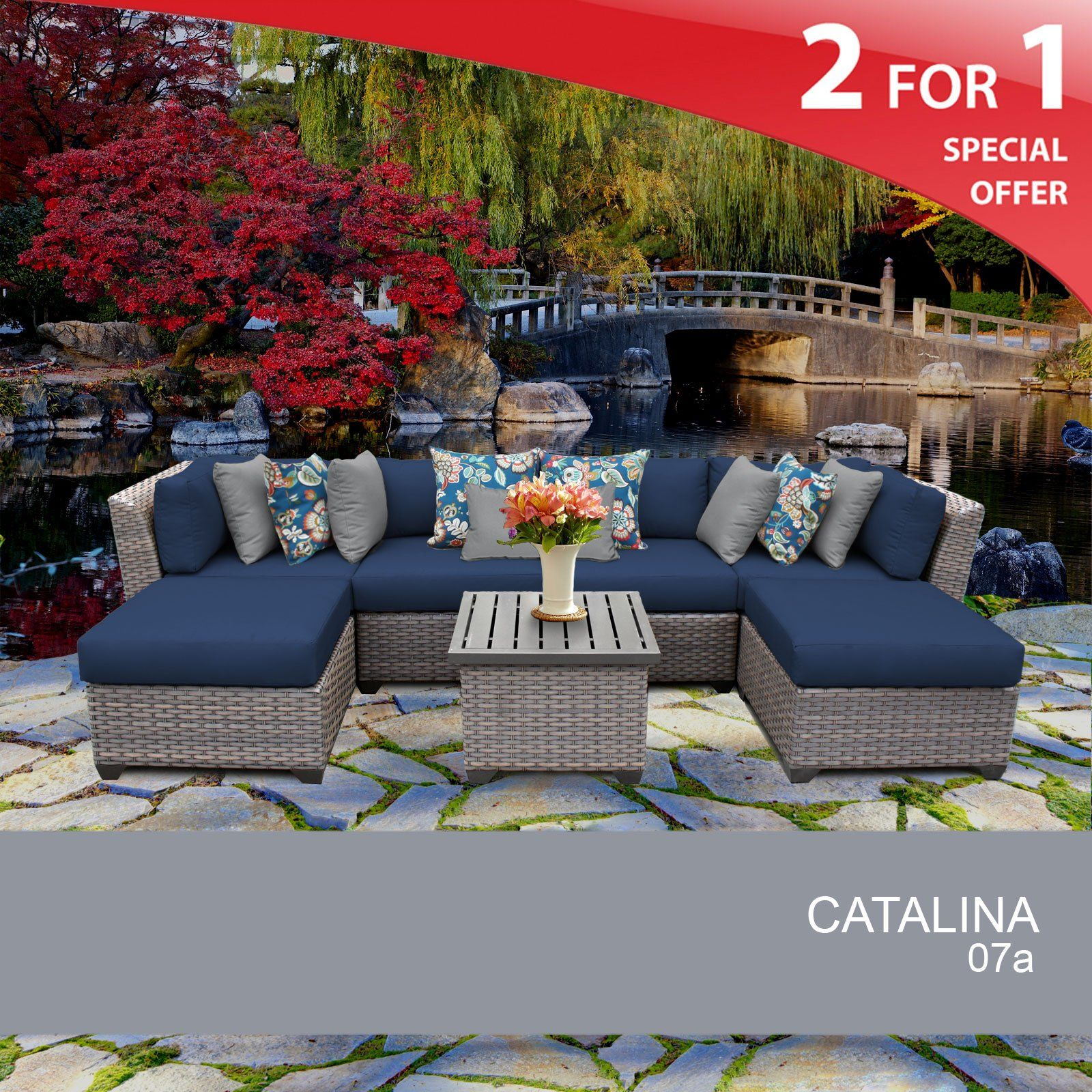 Catalina 45 Piece Outdoor Wicker Patio Furniture Set 045a. FULLY ...
