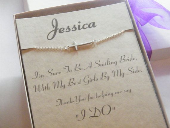 Personalized Bridesmaid Necklace  Personalized by MyPaisleyMarie, $25.00