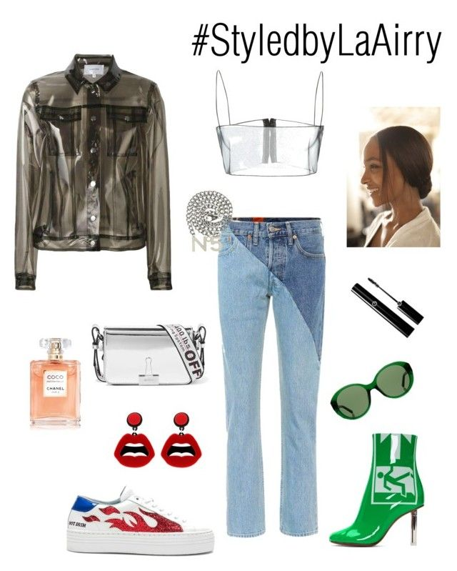 """Untitled #329"" by airis-kemp on Polyvore featuring Vetements, Chiara Ferragni, Chanel, Carven, The Row, sweet deluxe and Off-White"