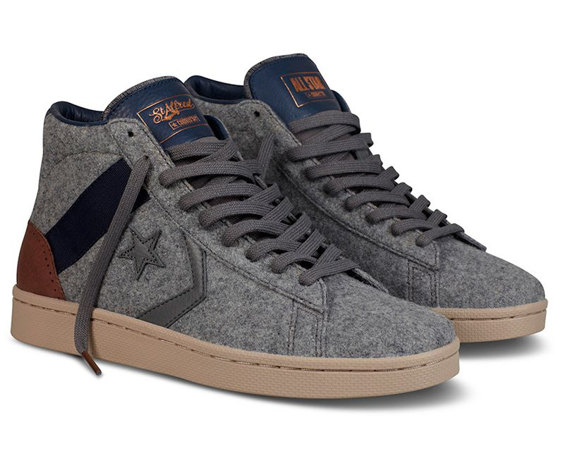 New Converse Pro Leather in wool and leather. They look  really warm and comfortable