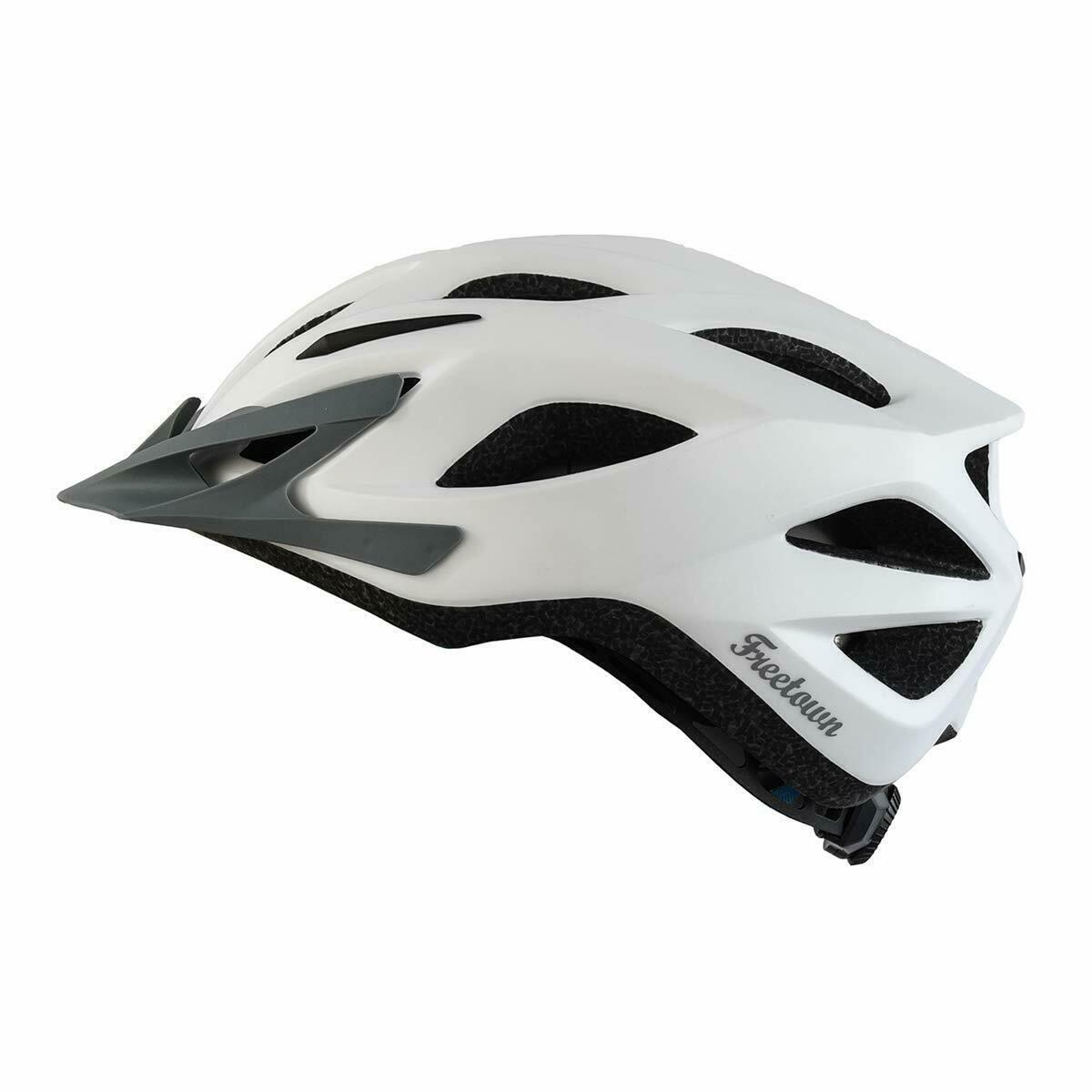 Freetown Revlr 58 63cm White Adult Helmet For Bicycle Bicycle