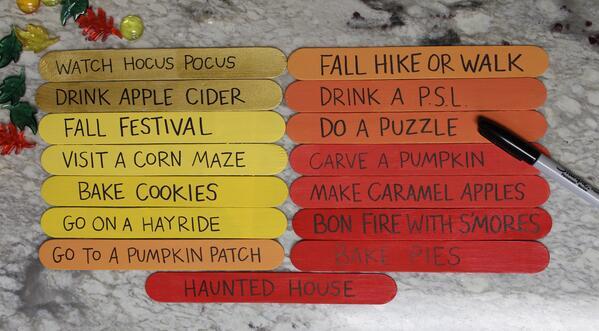DIY Fall Bucket List #fallbucketlist DIY Fall Bucket List #fallbucketlist
