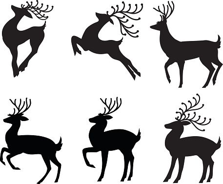 reindeer clip art vector images illustrations istock reindeer rh pinterest co uk reindeer antlers headband clipart reindeer antlers clipart