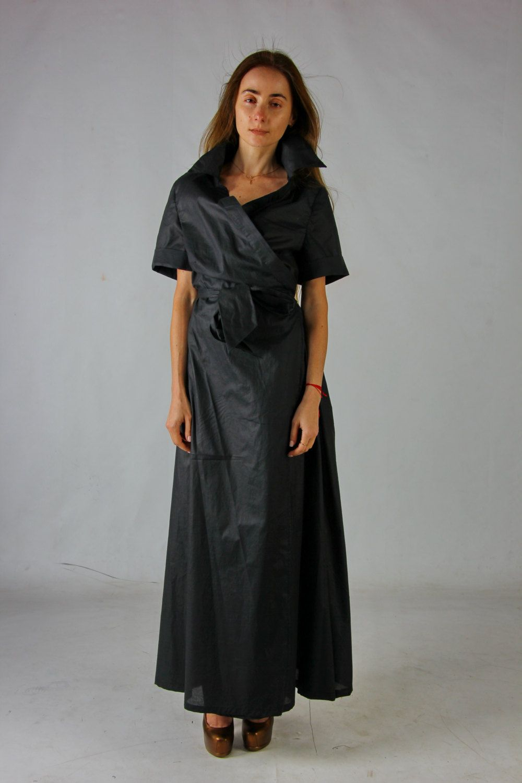 Maxi wrap dress sleeves dress maxi black cocktail dress formal