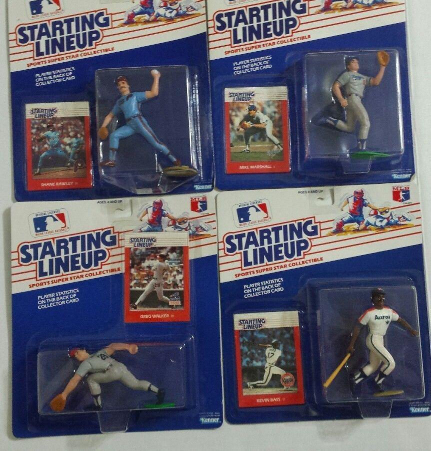 1988 baseball rookie starting lineup figures lot 4 bass