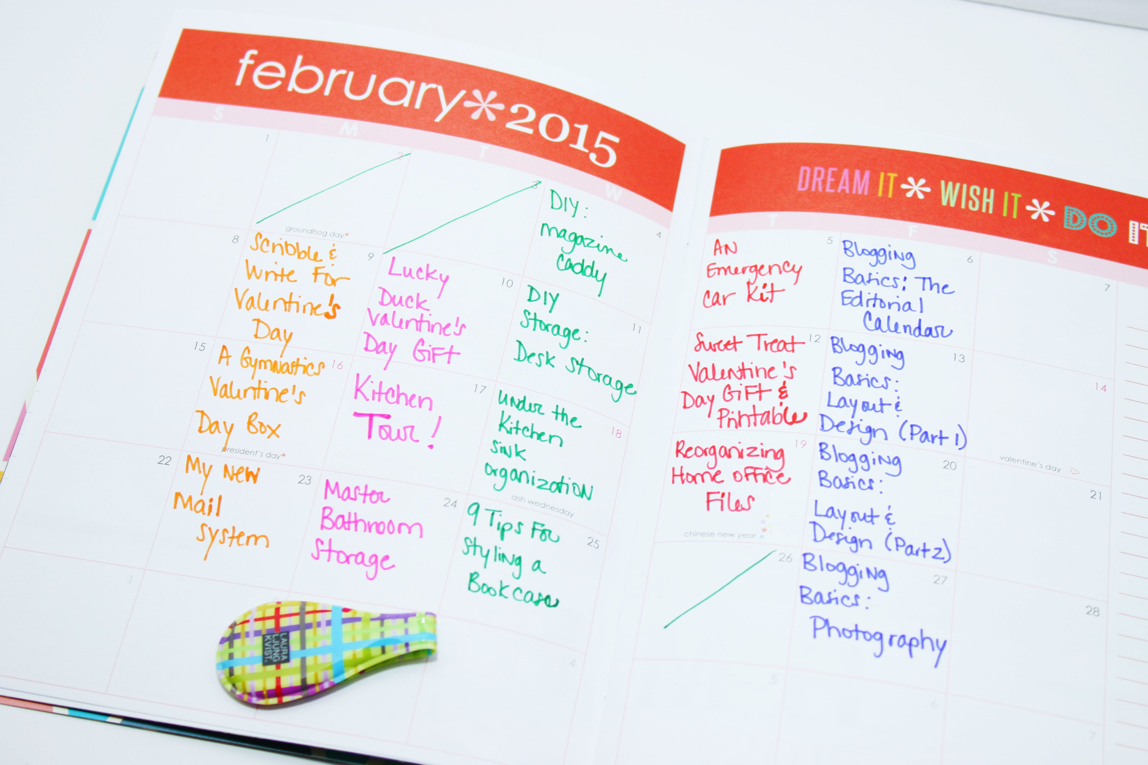 Monthly blog planning