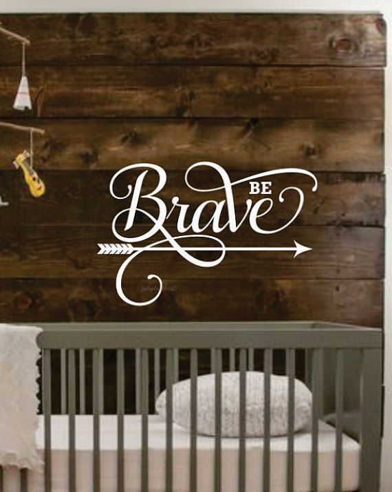 Be Brave Decal Nursery Wall Art Vinyl Letters Tribal Stickers Inspirational Quote Positive Message
