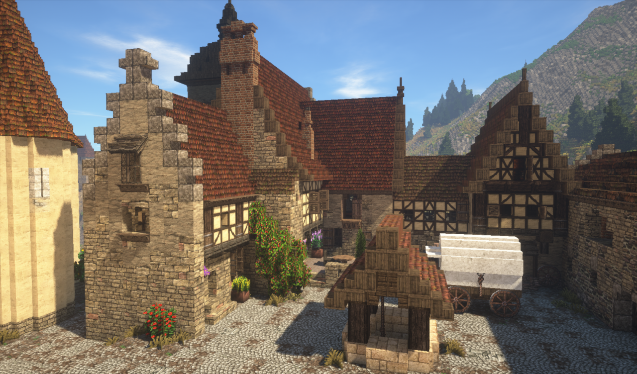 Rich Medieval Vineyard  Conquest Reforged  Minecraft Project
