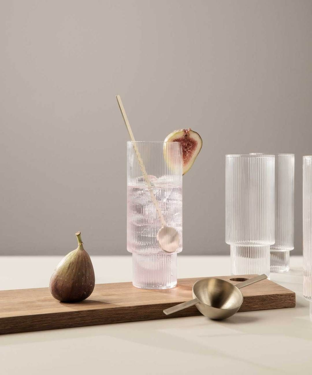 Ripple Long Drink Glasses Set Of 4 In 2020 Long Drink Glasses Drinking Glass Set